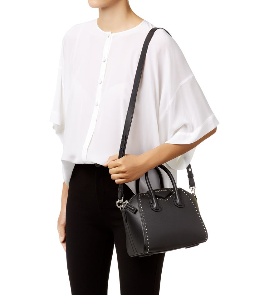 Givenchy Mini Smooth Stud Antigona Tote In Black Lyst