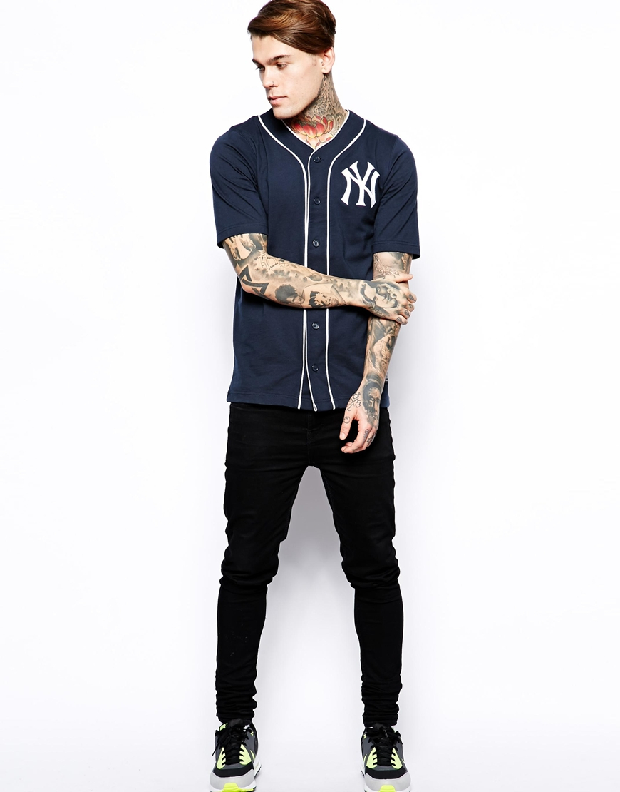 Lyst - Majestic Ny Yankees Jersey Baseball Top in Blue for Men 44214079525