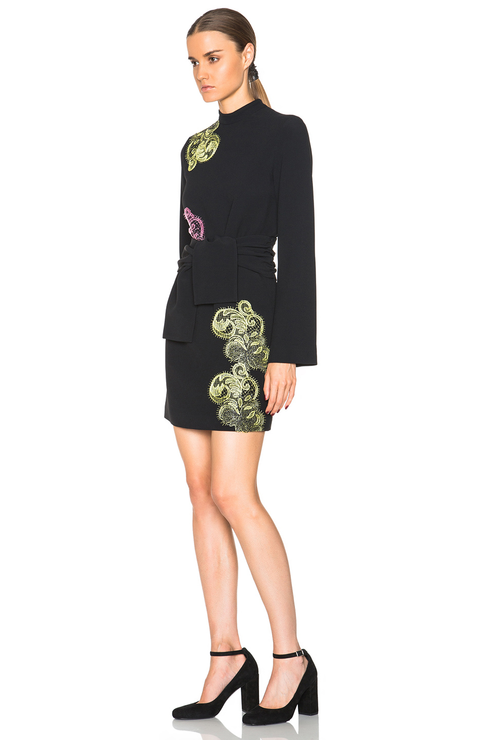 Real Cheap Price dress in double-layer cady with embroidery detail Msgm High Quality Online Buy Cheap Professional Pay With Paypal For Sale For Cheap Price uQB2aDt