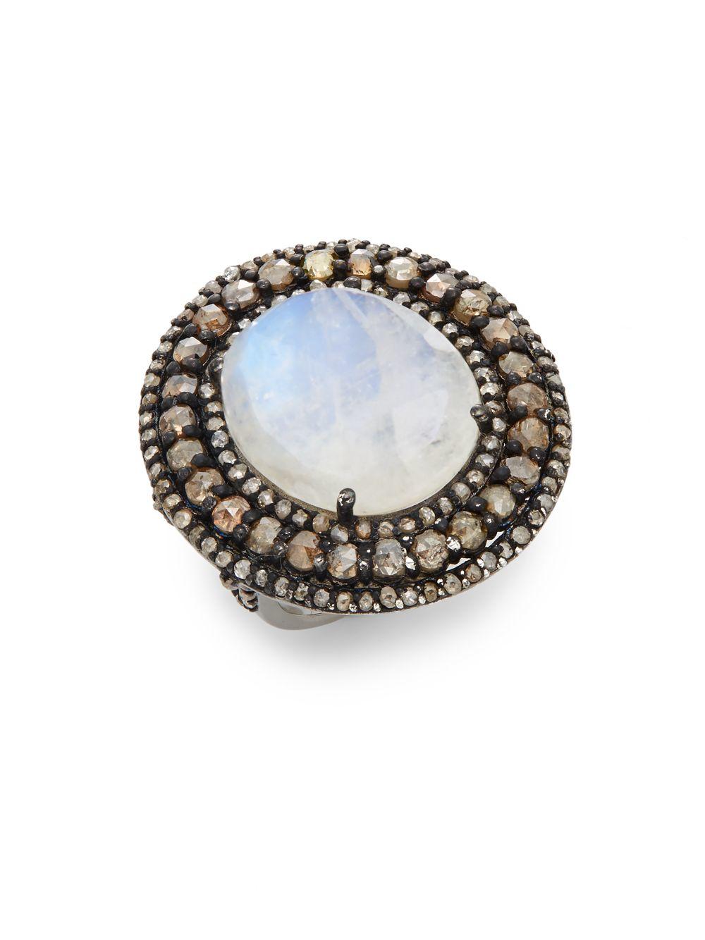 Bavna Moonstone Ring