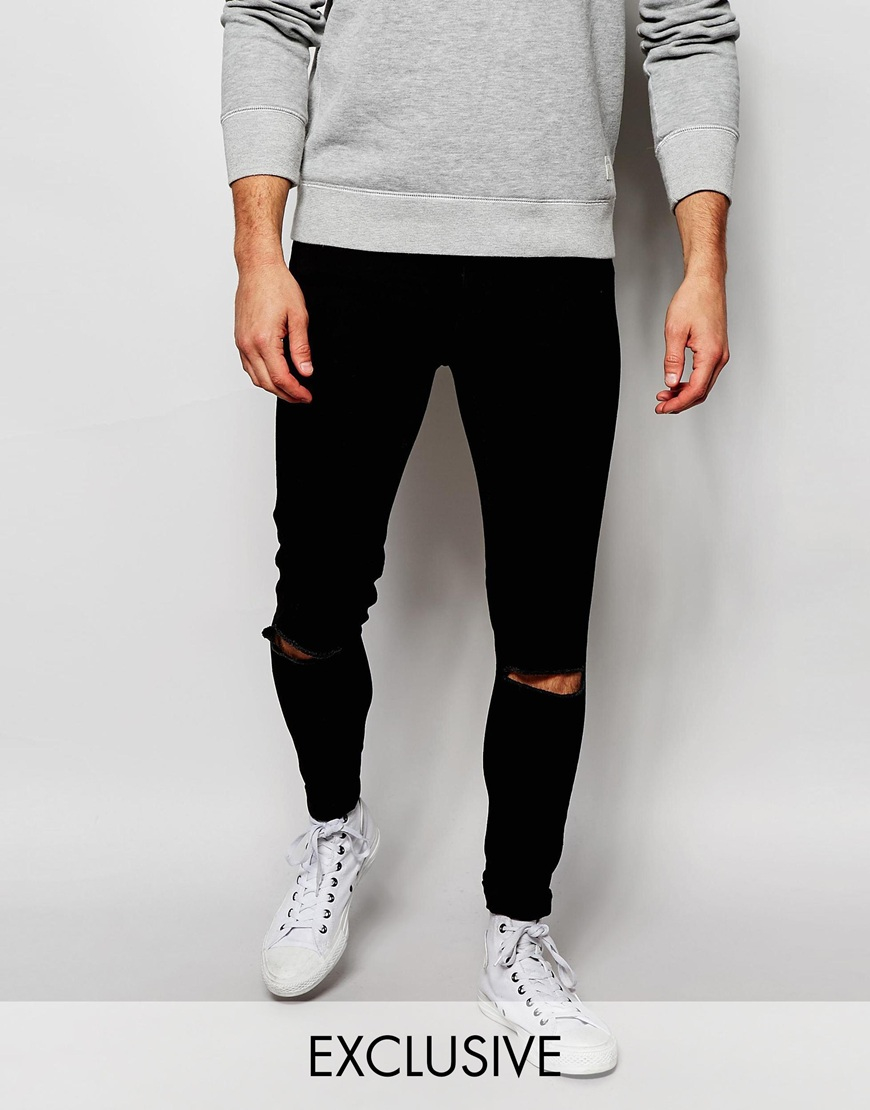 Cheap monday Exclusive Jeans Mid Spray Extreme Super Skinny Black ...