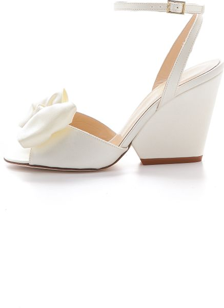 Kate Spade Iberis Wedge Sandals Ivory In White Ivory Lyst