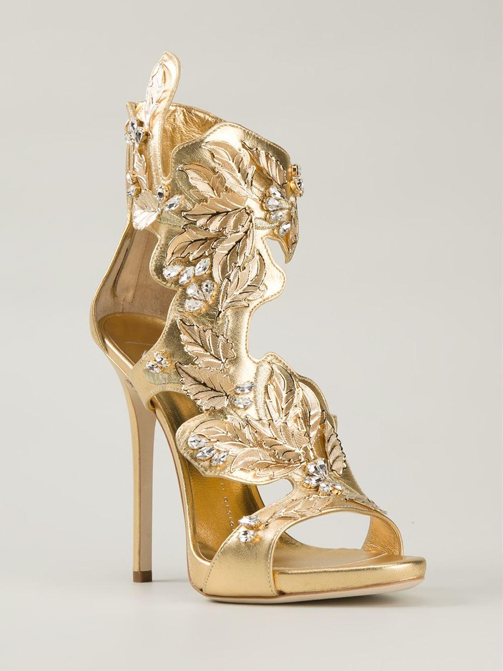 Gold Leaf Heels - Is Heel