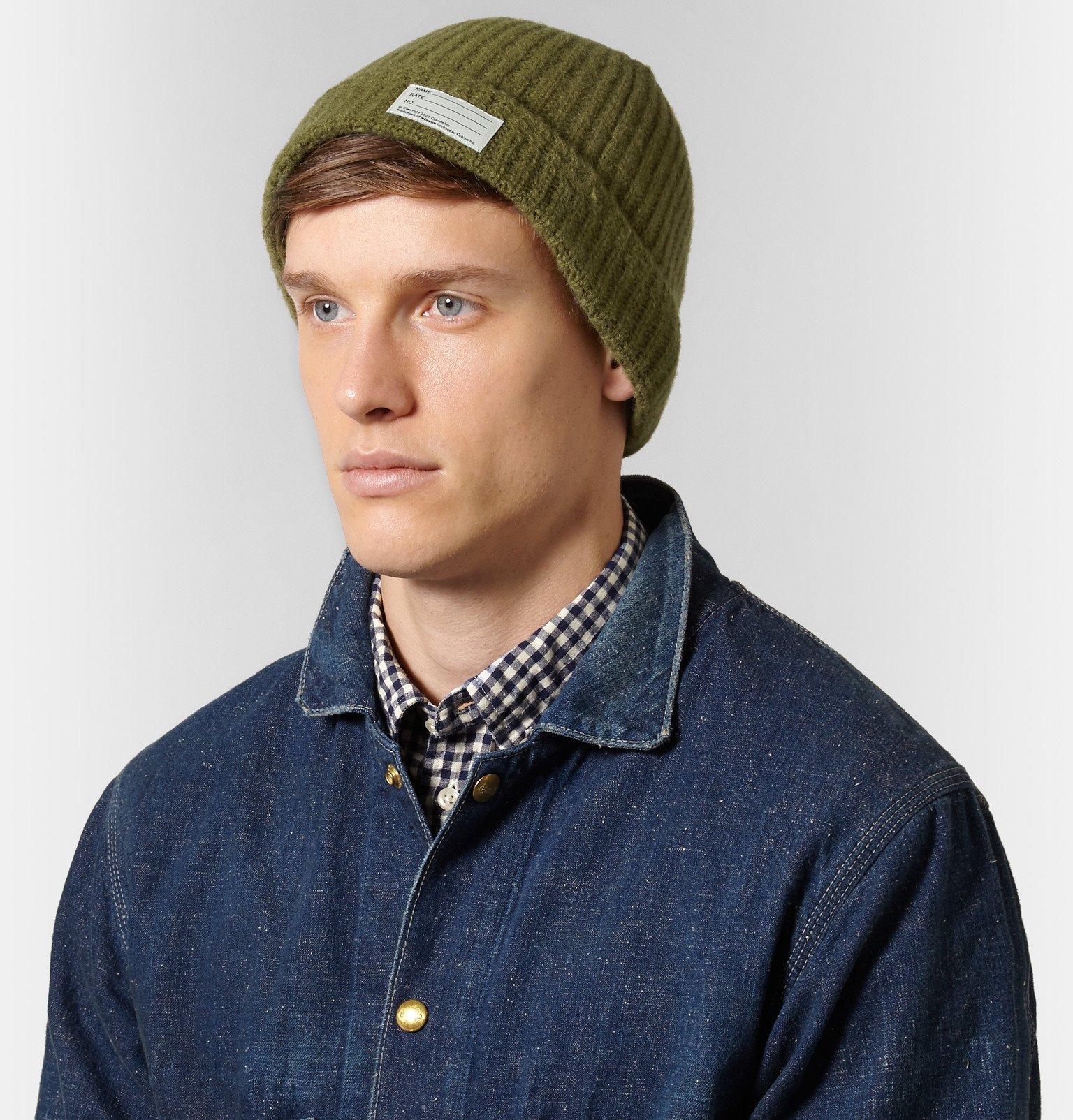 Visvim Ribbed Wool Beanie in Green for Men - Lyst bd0c43d1c054