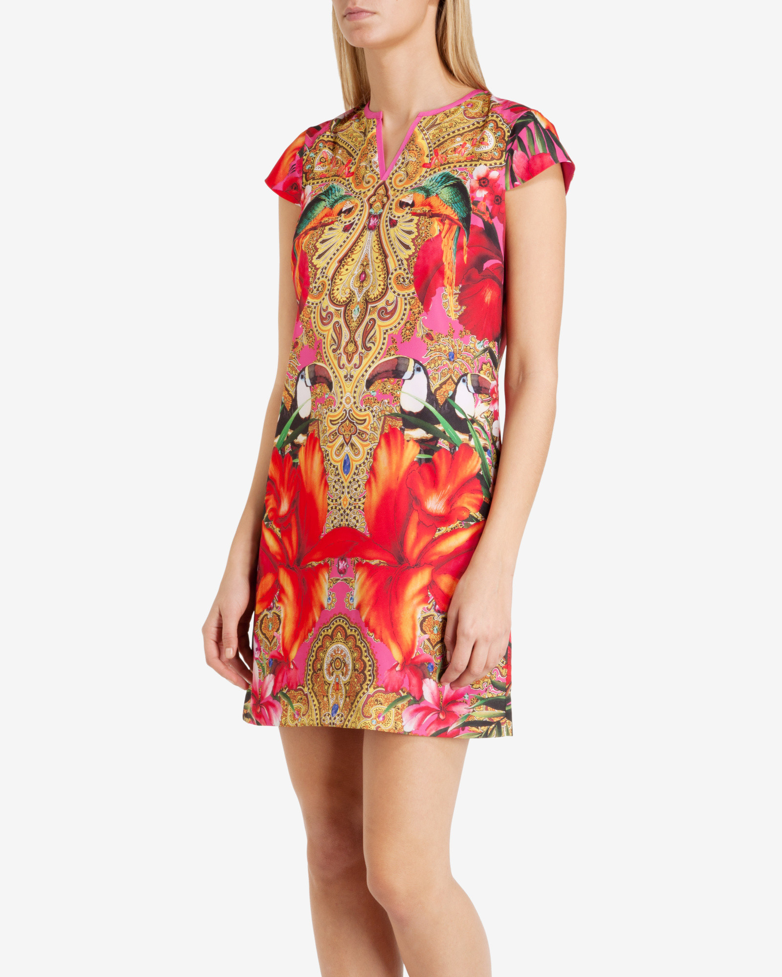 cbbbd4f250f9b7 Ted Baker Paisley Toucan Tunic Dress in Pink - Lyst
