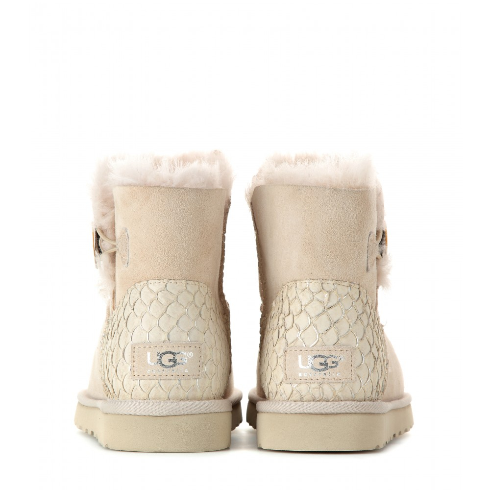 bf30cd84524 ugg australia mini bailey button boots on