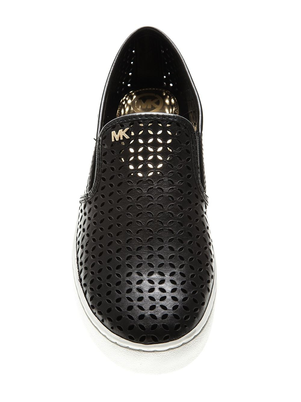 ba1ea1e2 MICHAEL Michael Kors 'olivia' Perforated Slip-on Sneakers in Black ...