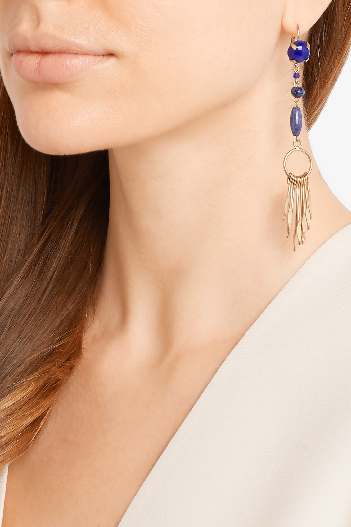 c95a32c84b Lyst - Isabel Marant Jacques Gold-tone Multi-stone Earrings in Blue