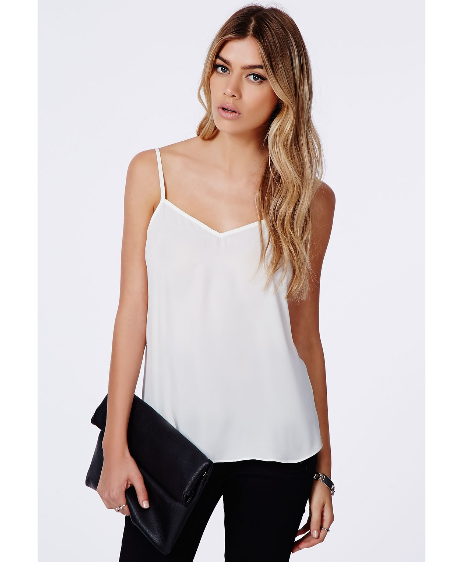 6fdc8e52cd74d1 Missguided Samala Chiffon Cami Top In White in White - Lyst