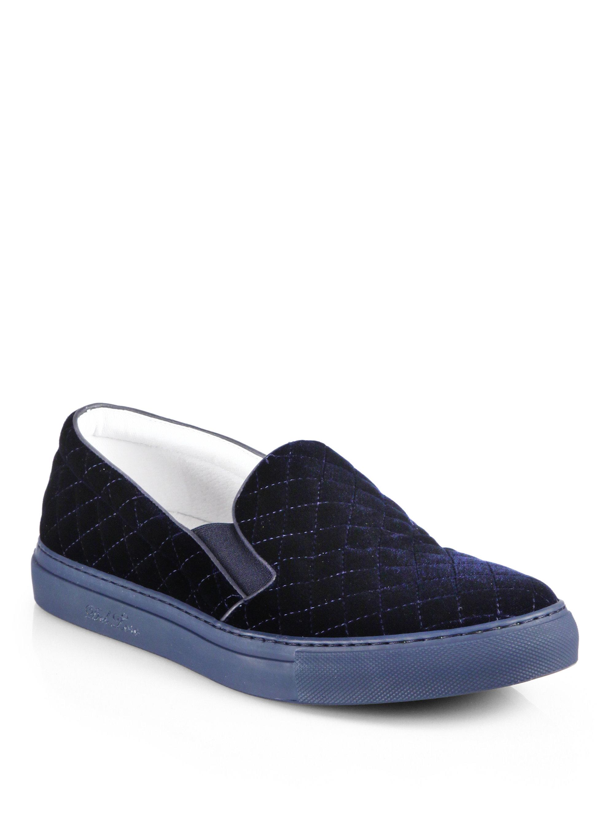 DEL TORO Velvet Slip-On Sneakers EMvCvs3TM