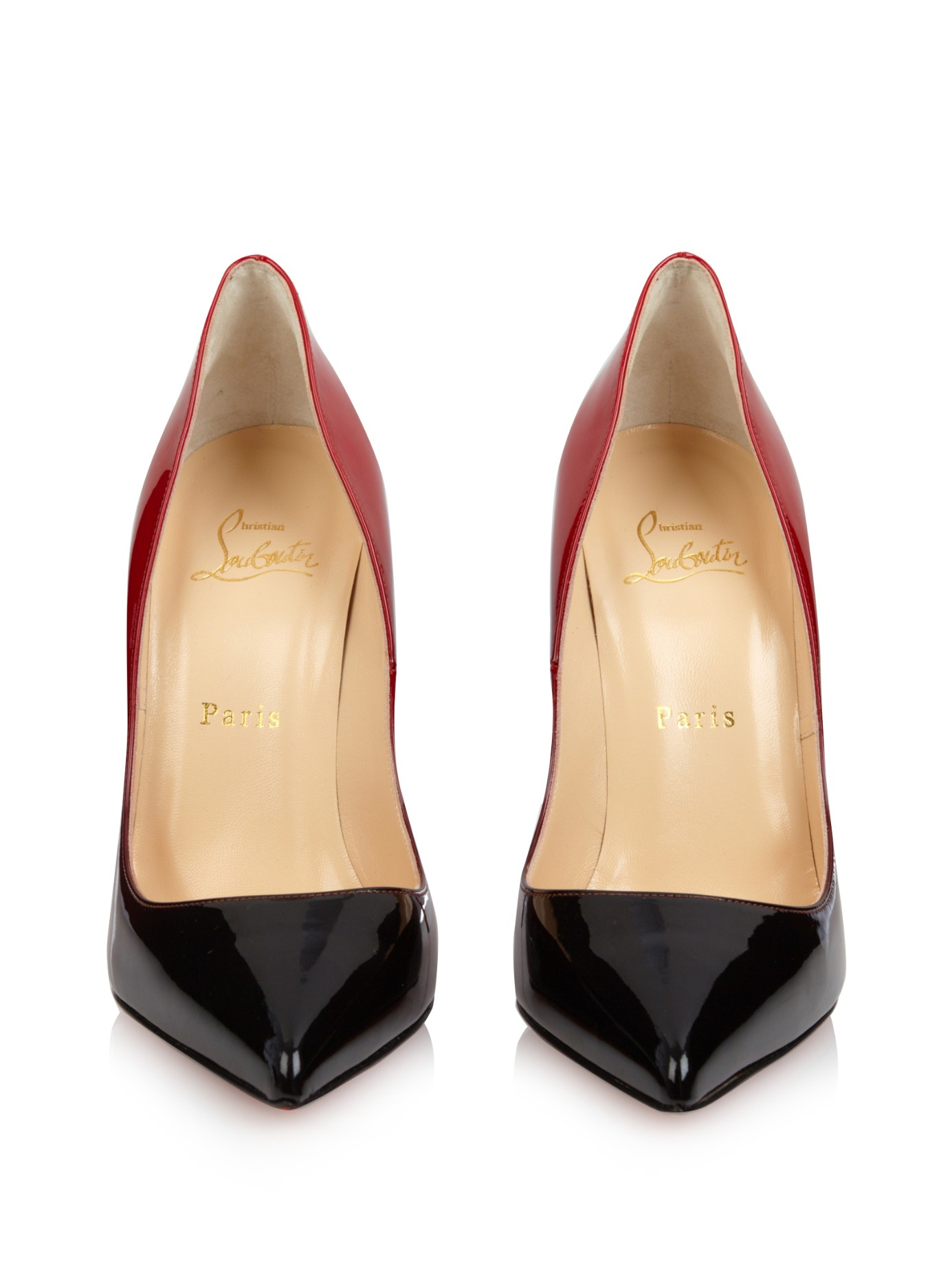 Christian louboutin Pigalle Follies Ombr�� Pumps in Black (BLACK ...