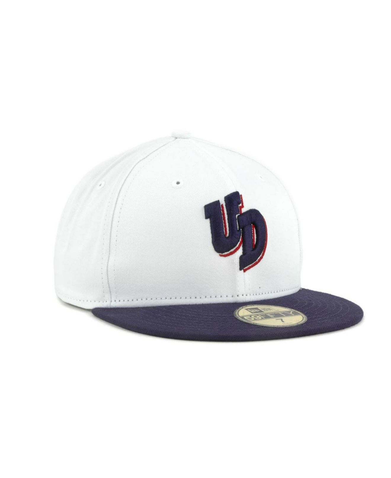 04f73fcb2a476 Lyst - KTZ Dayton Flyers Ncaa White 2 Tone 59fifty Cap in Blue for Men