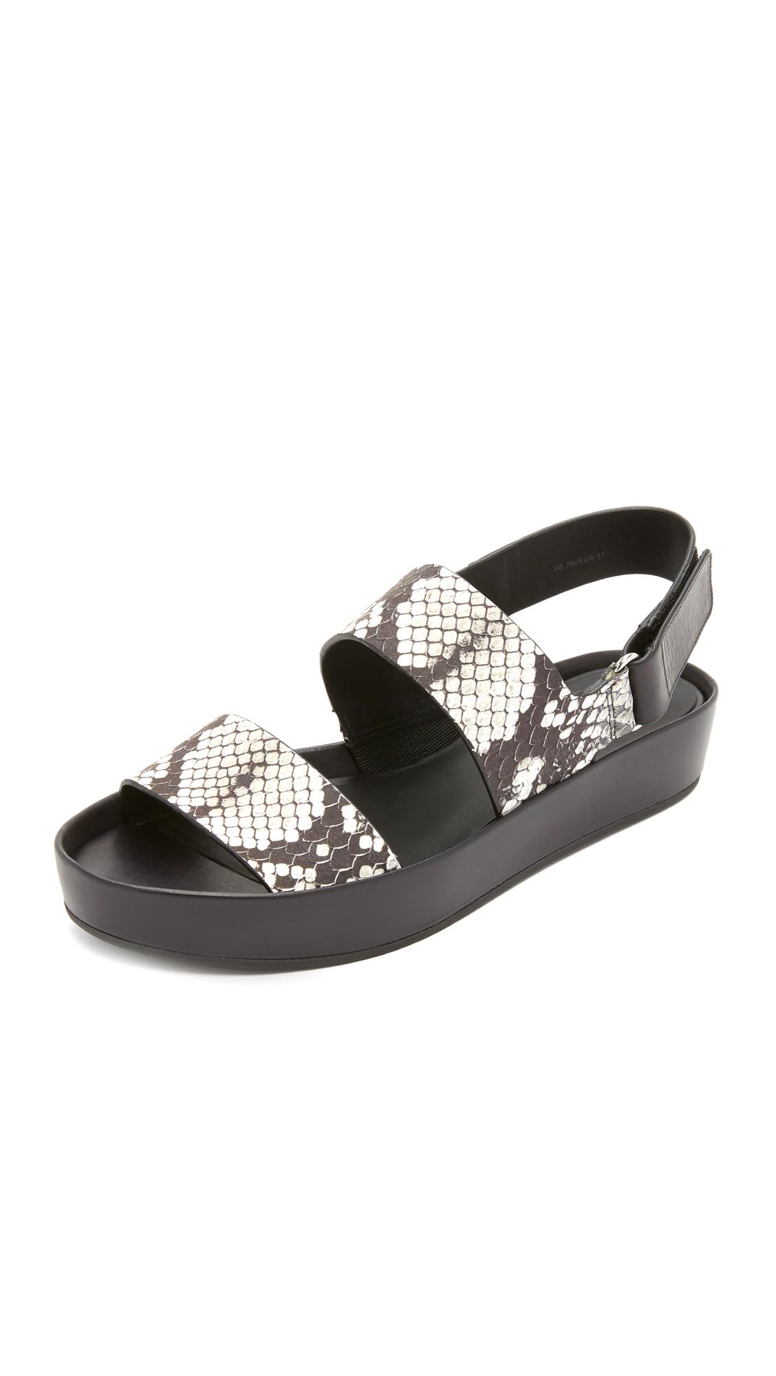 83f20232d5a7 Lyst - Vince Marett Flatform Sandals in Black