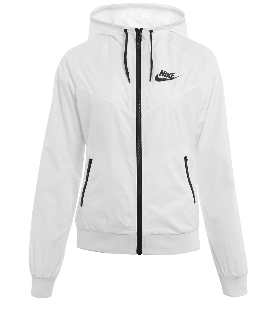 Nike White Windrunner Jacket in White | Lyst