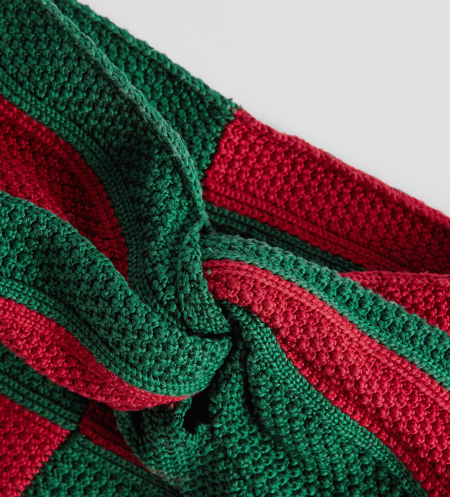 09a633c60a5 Gucci Web Cotton Headband in Green - Lyst