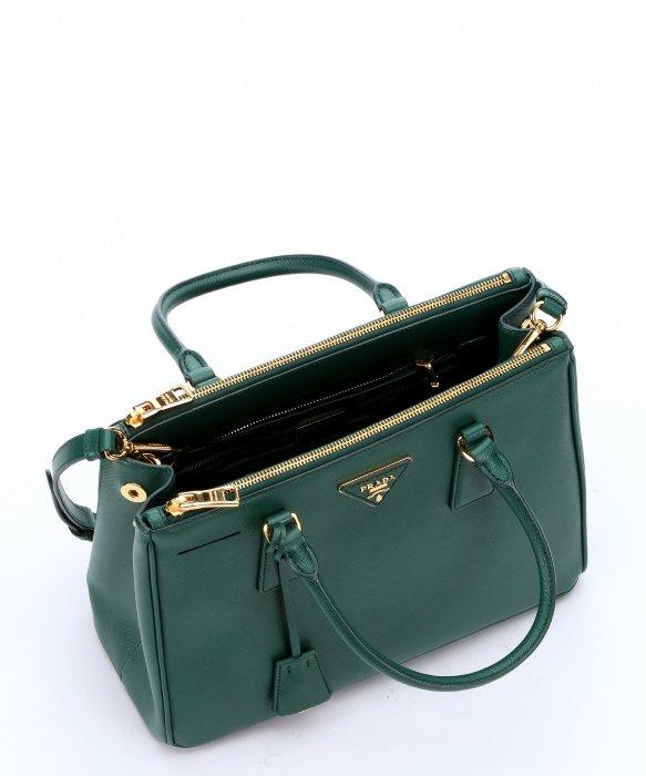 Prada Green Leather \u0026#39;Lux\u0026#39; Small Convertible Tote Bag in Green | Lyst