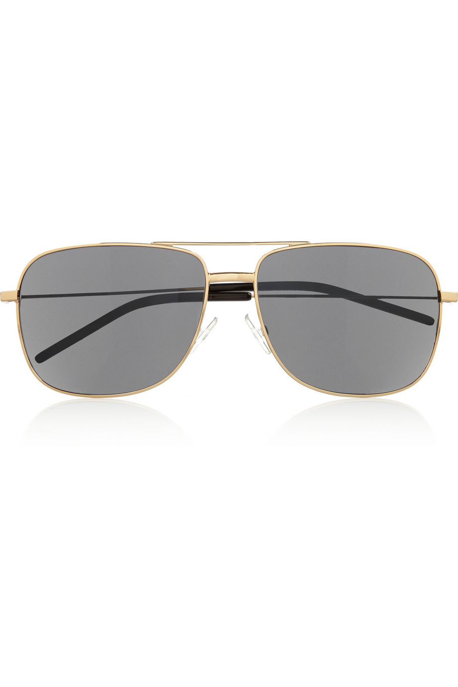 16dd8bfcf5 Saint Laurent Square-Frame Acetate Aviator-Style Sunglasses in ...