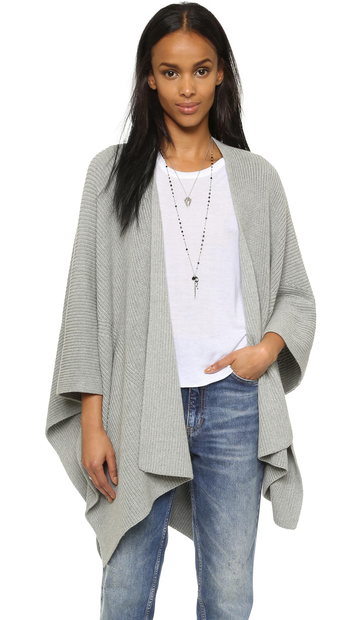 525 america Cotton Shaker Blanket Wrap in Gray | Lyst