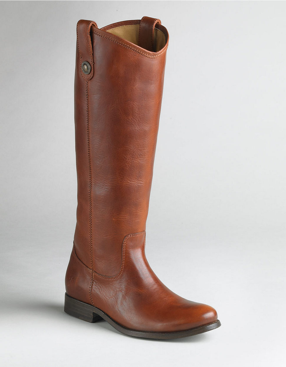 Frye Melissa Wide Calf Boots in Brown (cognac leather)