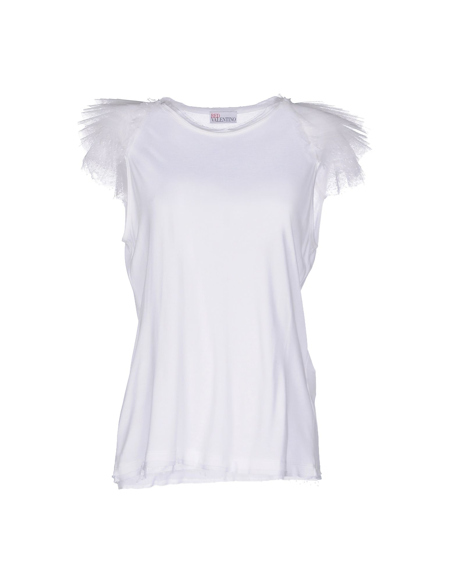 Red valentino t shirt in white save 23 lyst for Red valentino t shirt
