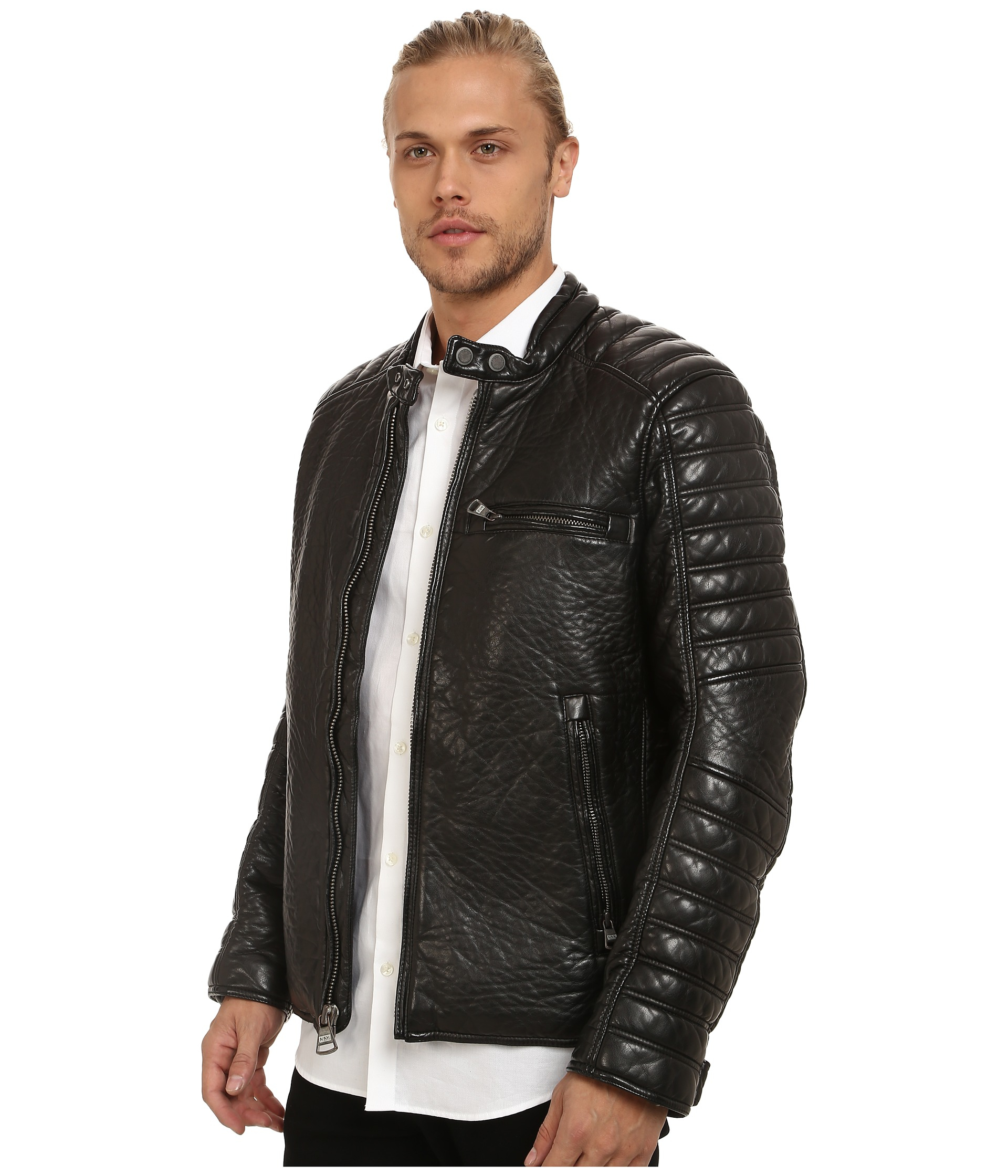 Lyst Marc New York Broadway Bubble Pu Moto Jacket W Quilted