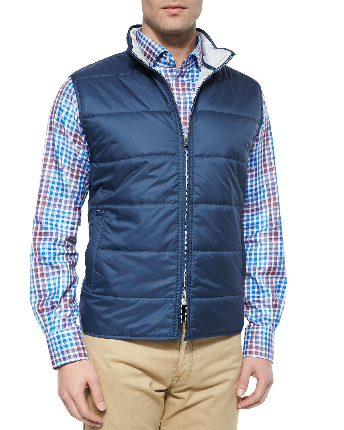 Peter millar Cumberland Quilted Vest in Blue | Lyst : peter millar quilted vest - Adamdwight.com