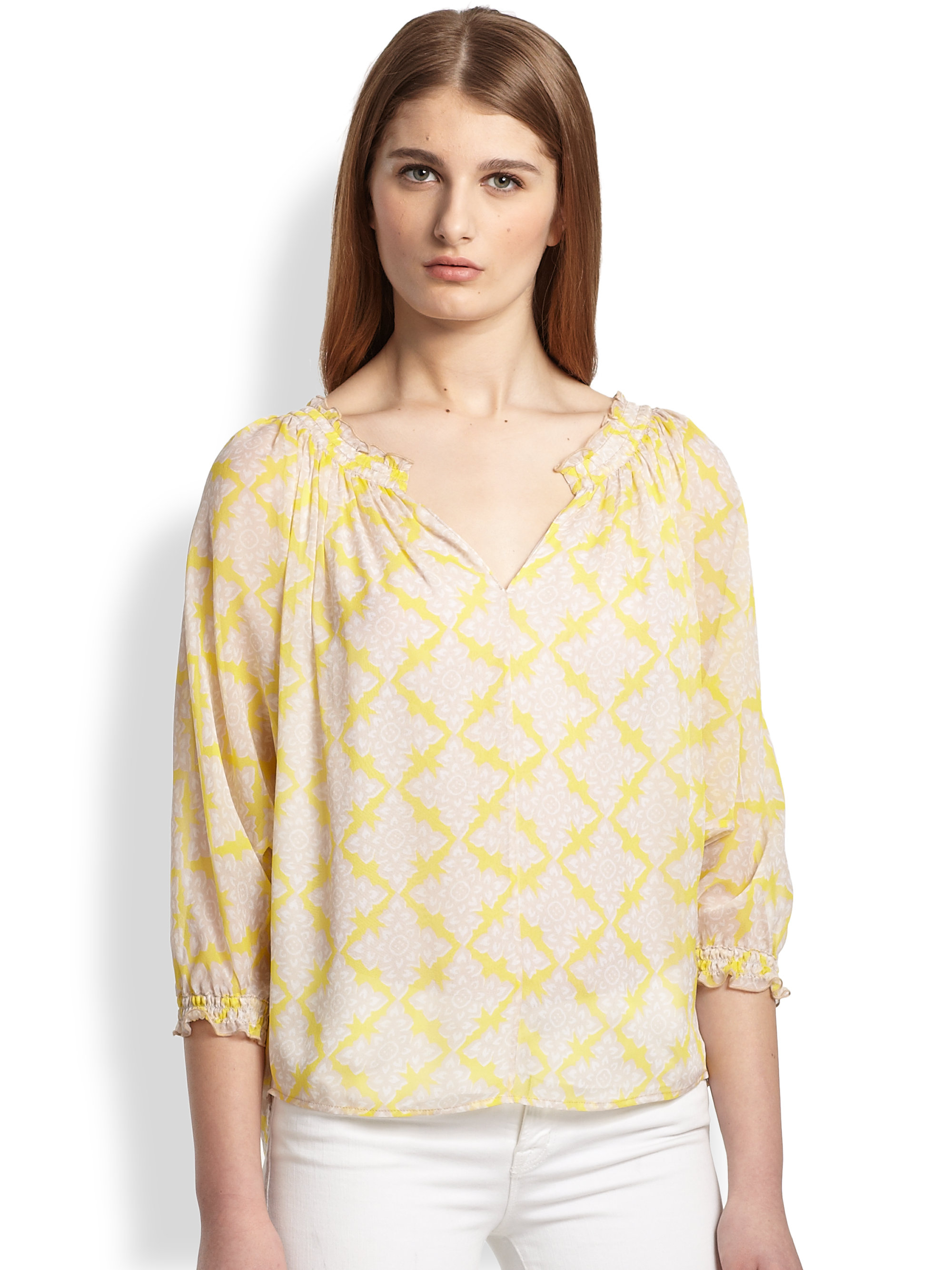 Yellow Peasant Blouse 119