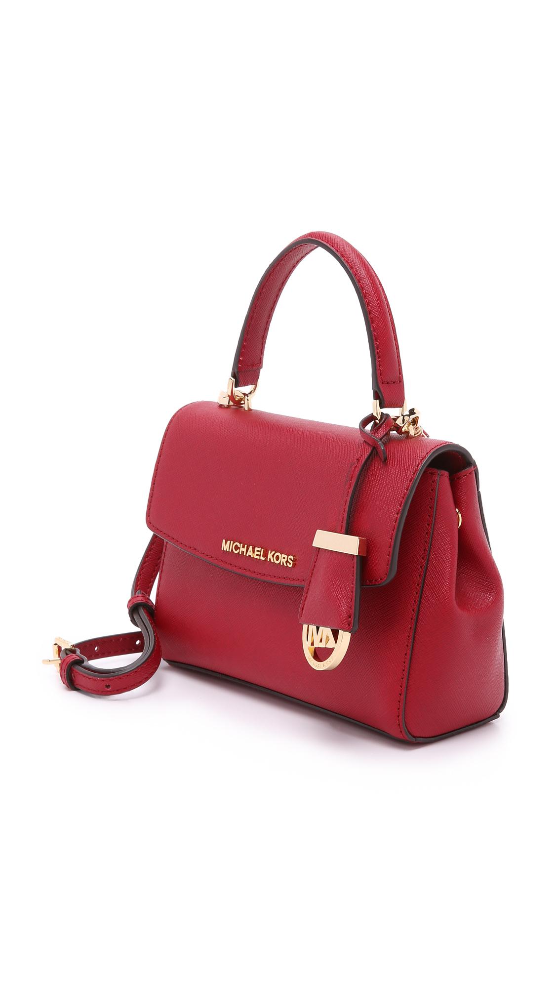 551a71398c46 Lyst - MICHAEL Michael Kors Ava Extra Small Cross Body Bag - Cherry ...
