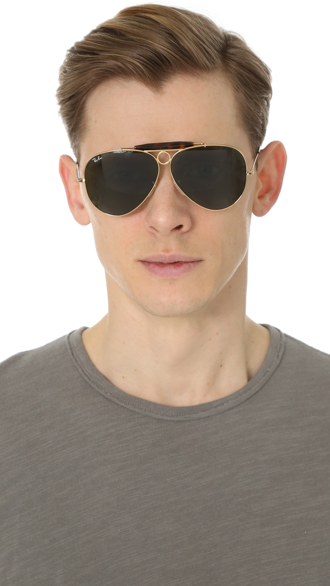 Lyst Ray Ban Shooter Sunglasses In Metallic For Men