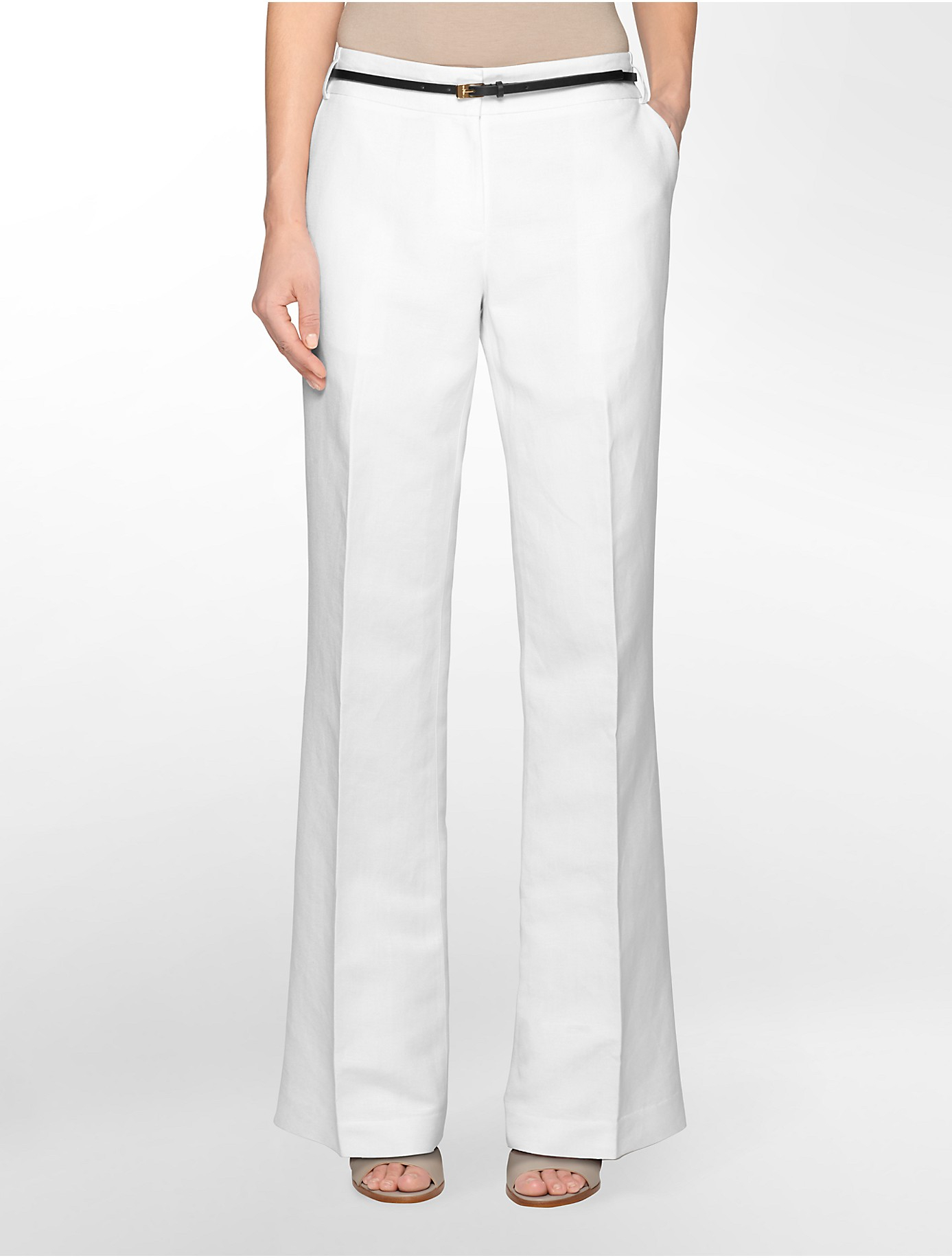 Excellent Perry Ellis Linen Suit Pants In White For Men Bright White  Lyst