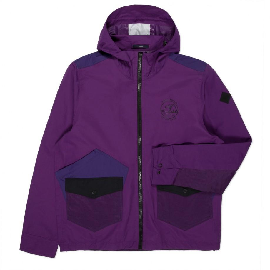 Paul Smith Men S Purple Water Resistant Hooded Jacket In