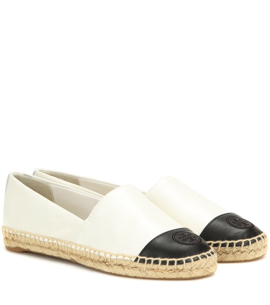 Tory Burch Leather Espadrilles In White Lyst