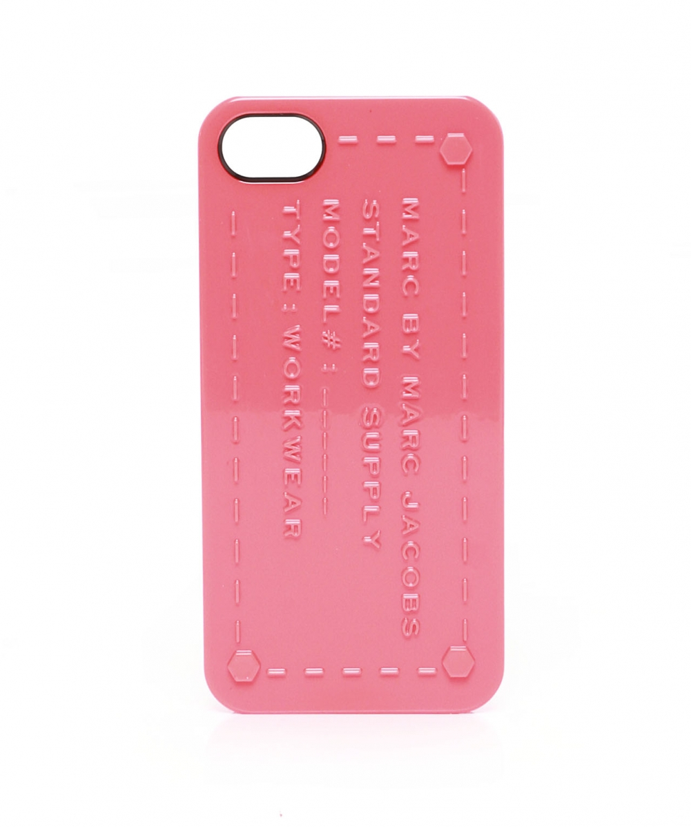 marc by marc jacobs standard supply iphone case in pink lyst. Black Bedroom Furniture Sets. Home Design Ideas