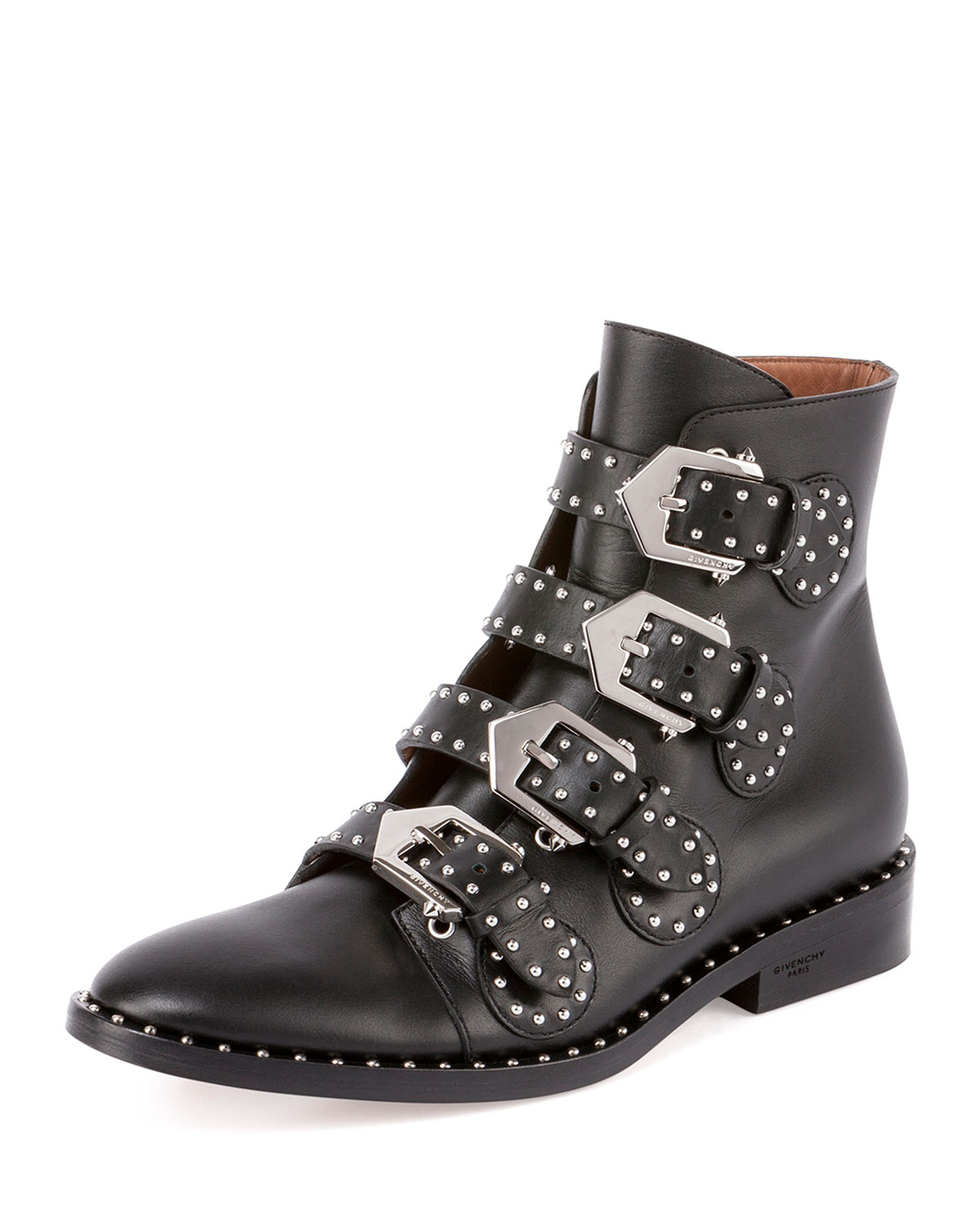 Givenchy Studded Leather Ankle Boot in Black