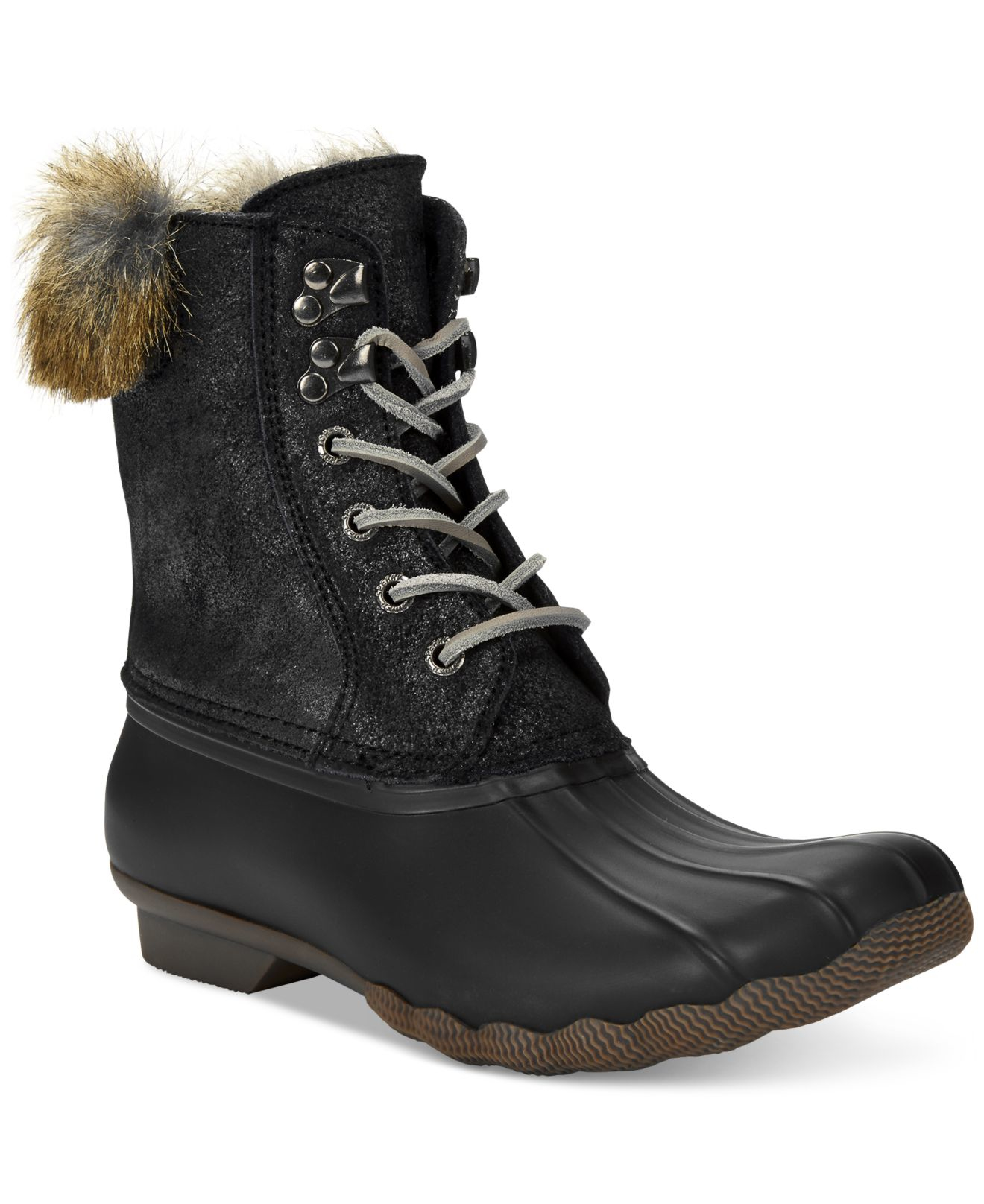 Lyst Sperry Top Sider Women S White Water Duck Boots In