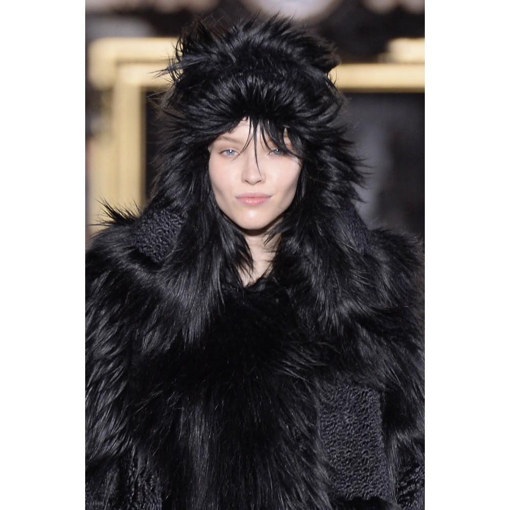 Stella McCartney Faux Fur Hat in Black - Lyst a006ea604af