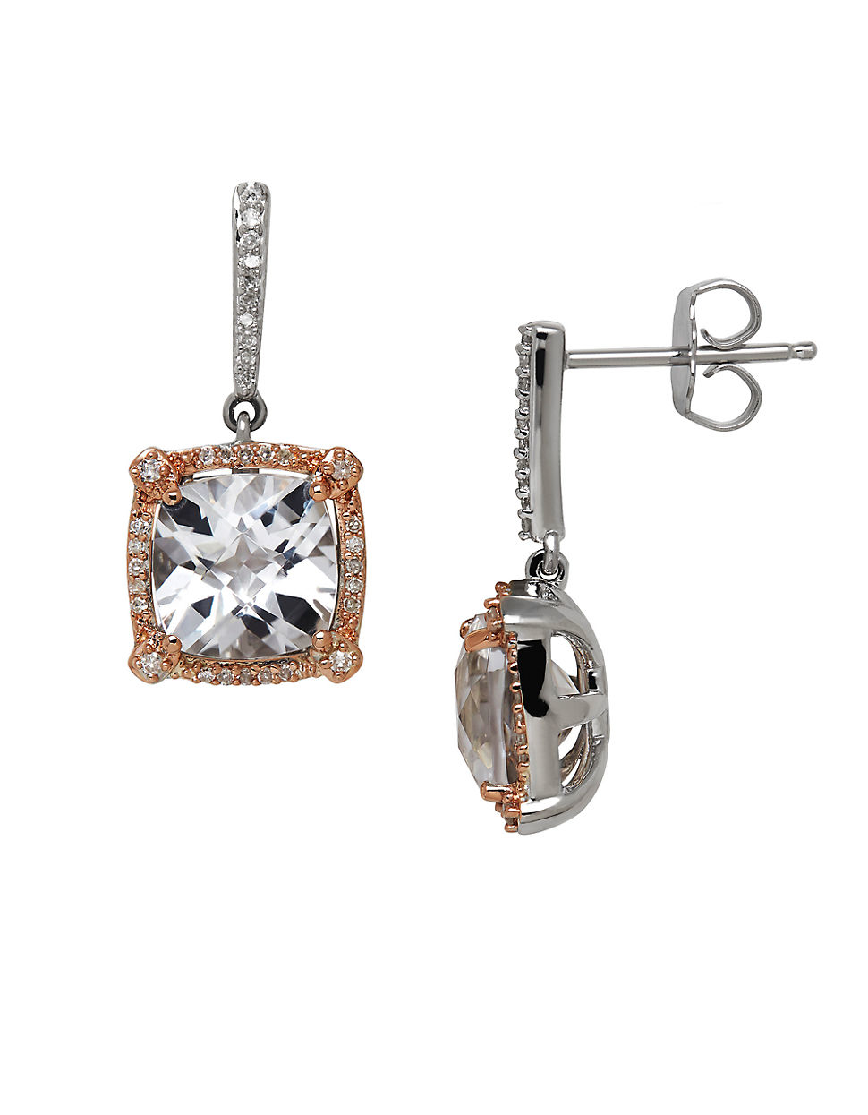 lord taylor quartz diamond sterling silver and 14k