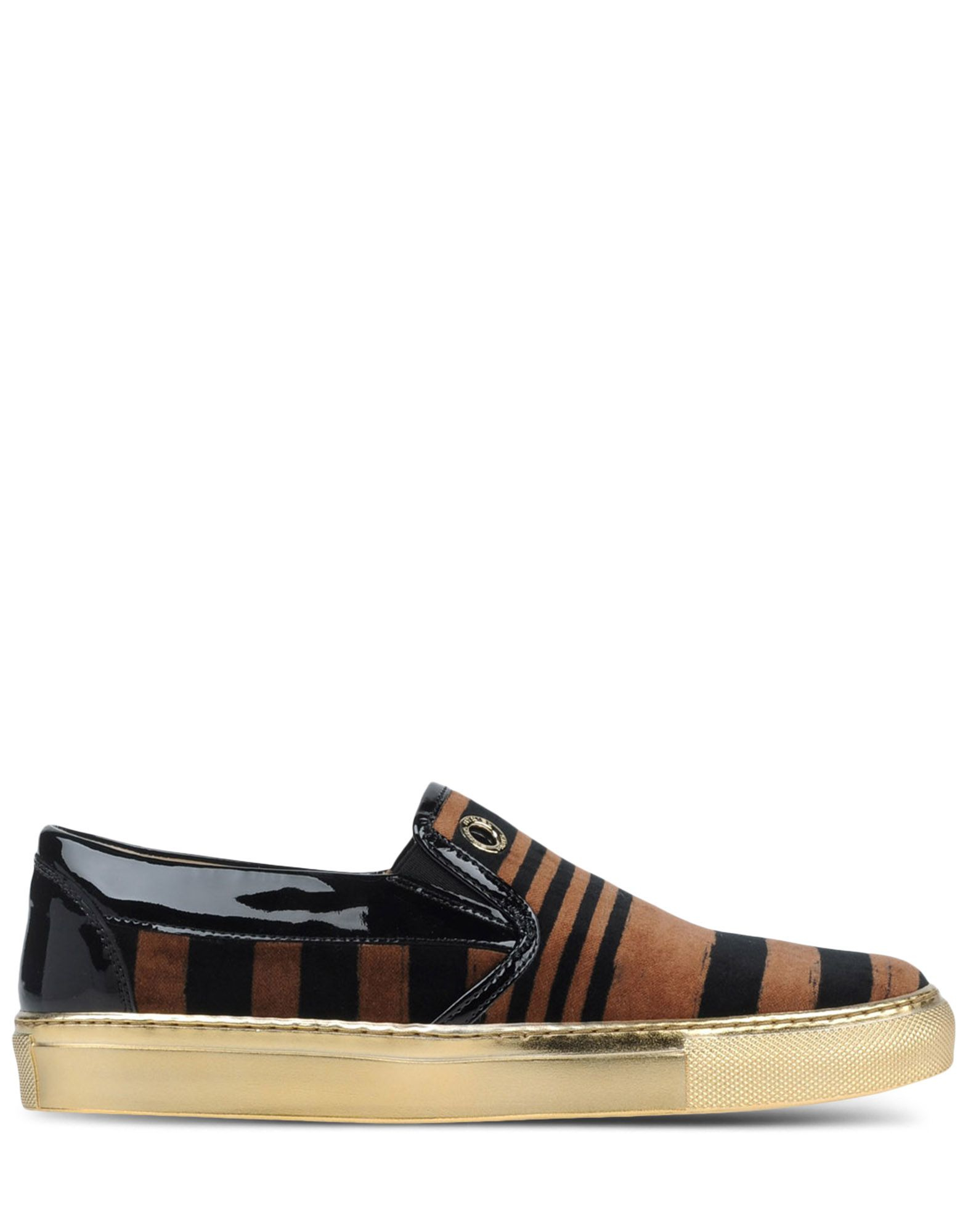 Sonia rykiel striped velvet low top sneakers in brown lyst - Sonia rykiel parure de lit ...