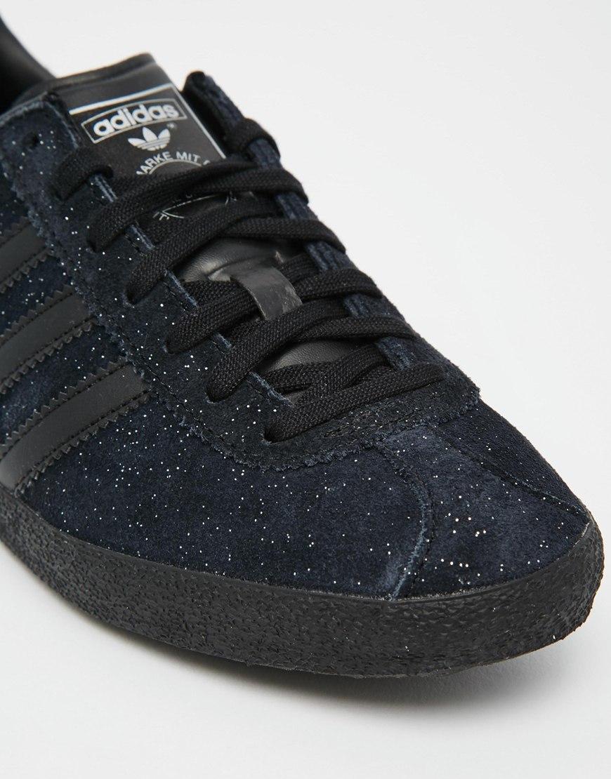 womens adidas black trainers