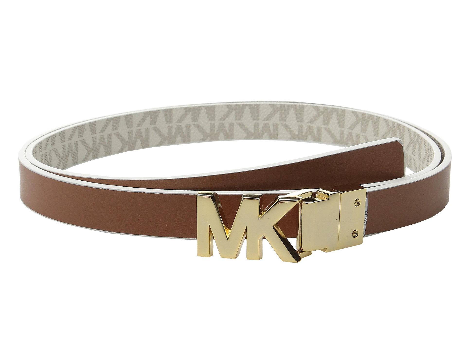 michael michael kors 20mm reversible logo pvc to smooth. Black Bedroom Furniture Sets. Home Design Ideas