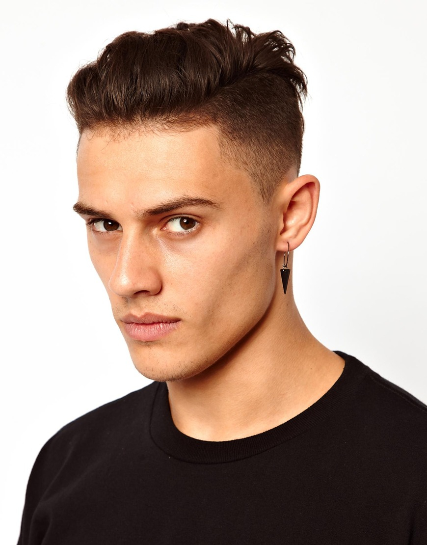 Lyst Cheap Monday Triangle Earring In Black For Men