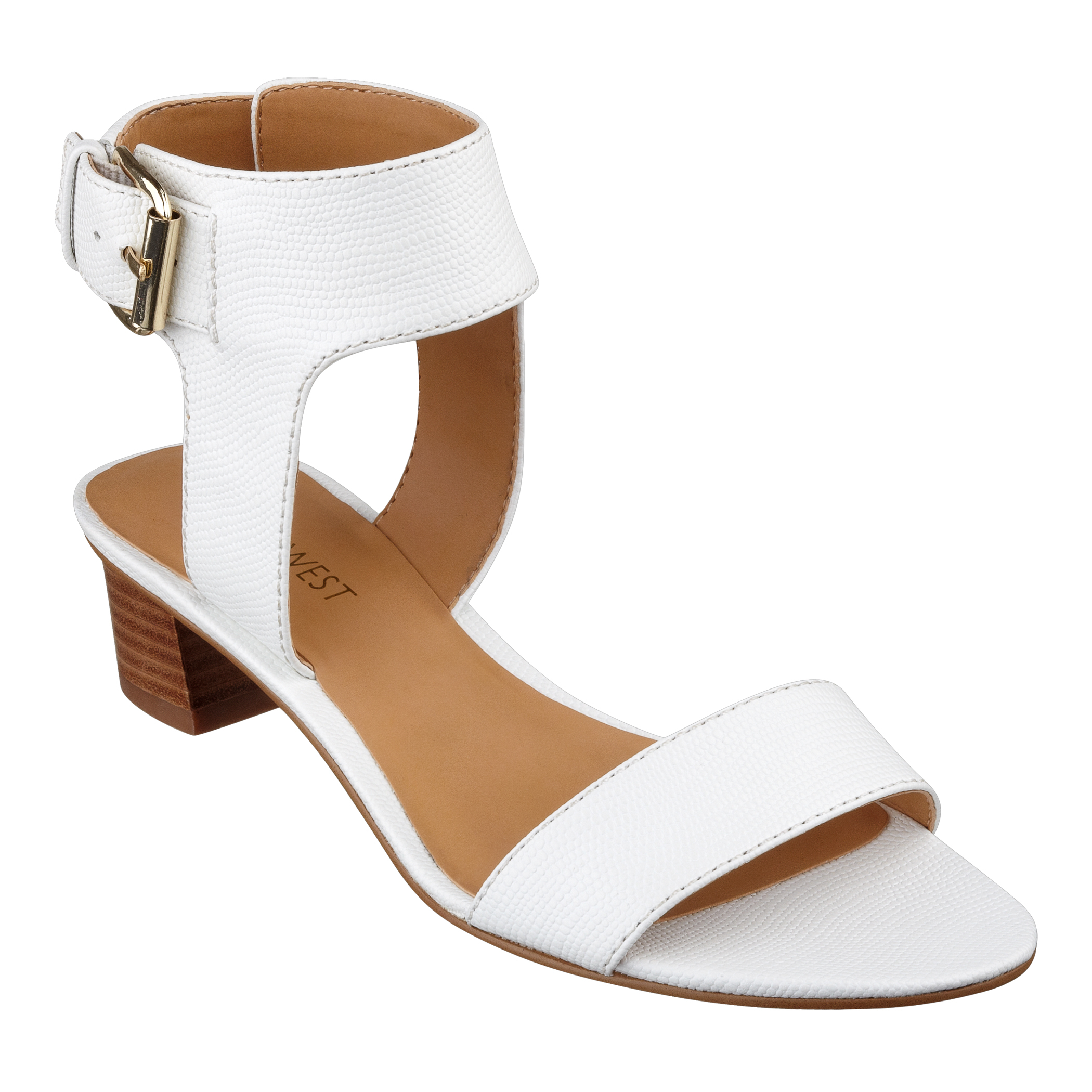 Nine West Tasha Opentoe Anklestrap Sandals Sandal In White