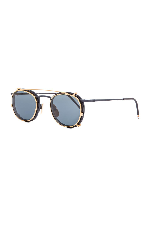 4b3d8c63b00 Lyst - Thom Browne Men S Clip On Sunglasses in Blue