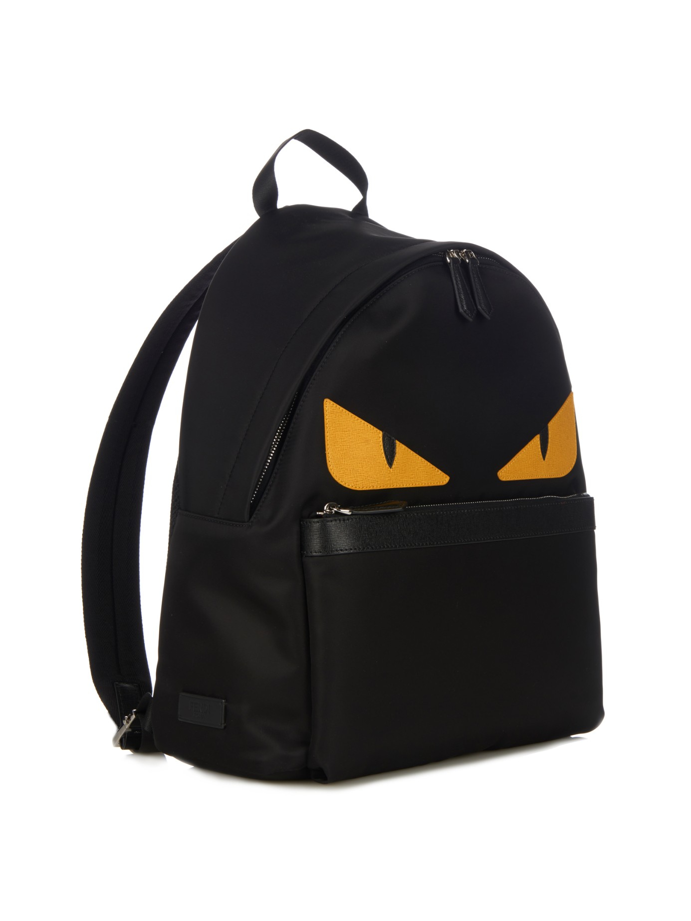 Lyst - Fendi Bag Bugs Nylon And Leather Backpack in Black for Men 3e8a758c7a120