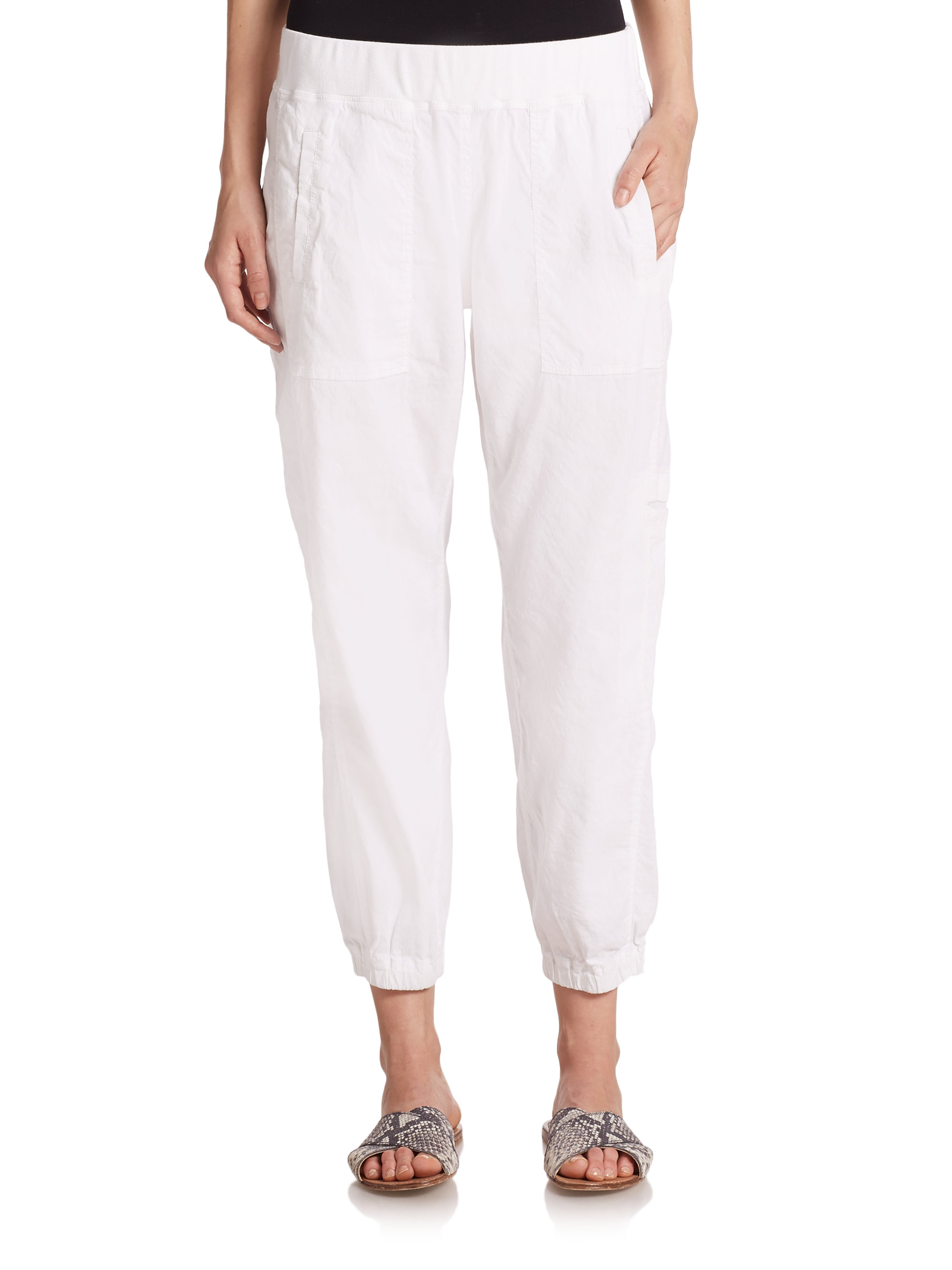 Eileen fisher Lounge Pants in White | Lyst