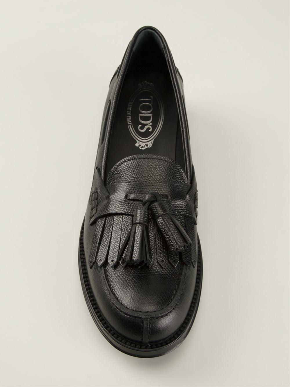 Tod's Tassel fringe loafers QELmKw22d