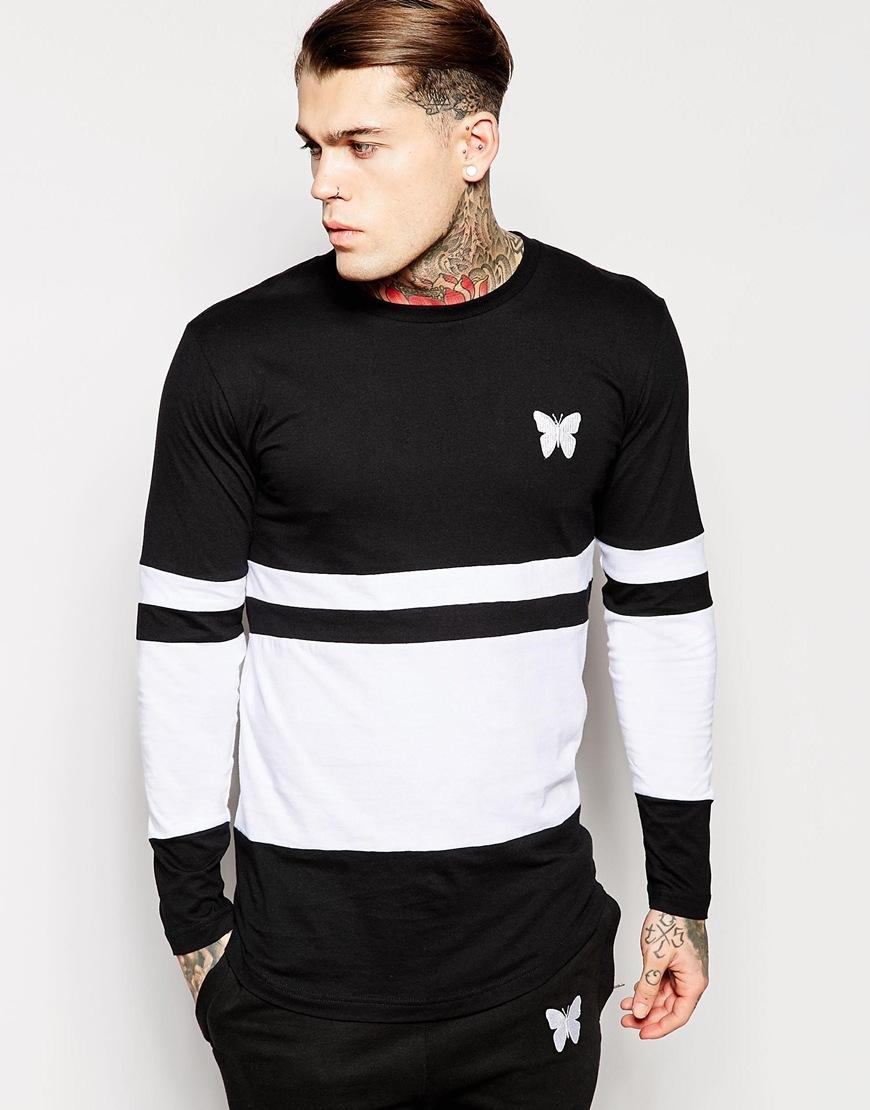 Good for nothing Longline Long Sleeve T-Shirt in Black for Men | Lyst