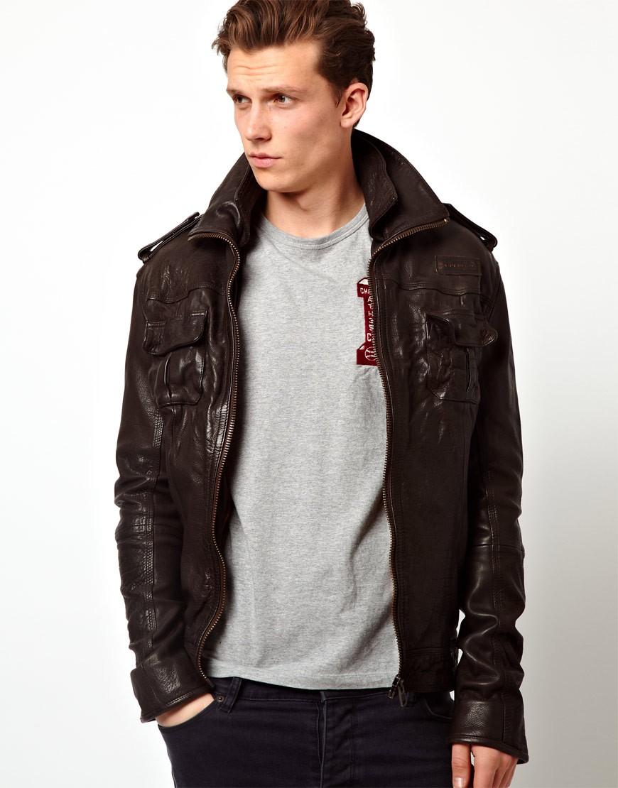 Leather jacket superdry -  Leather Jackets Like Superdry
