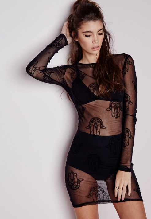 Image result for missguided mesh hamsa dress