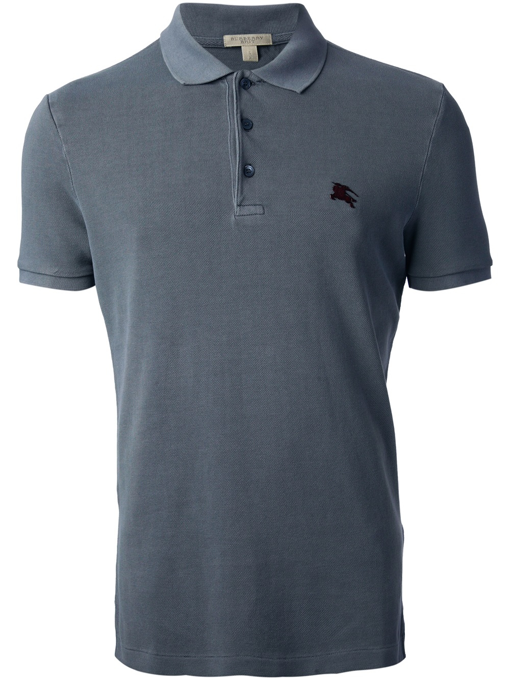 Burberry Brit Classic Polo Shirt In Gray For Men Grey Lyst